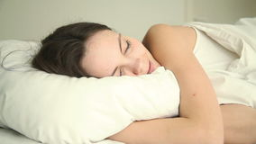 Young woman having good dream Stock Footage