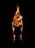 Junge Frau, die heißes Yoga übt Stockbild