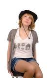 Junge Frau, die nach Inspiration sucht Lizenzfreie Stockfotografie