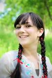Junge Frau, die Natur genießt Lizenzfreies Stockbild