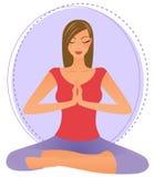 Junge Frau, die Yoga tut Lizenzfreies Stockbild