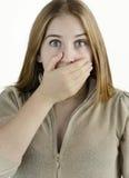 Junge Frau hat Angst Lizenzfreies Stockbild