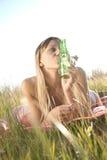 Junge Frau im Bikini Stockfotos