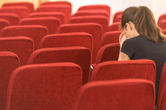 Junge Frau im Gebet Lizenzfreie Stockfotografie