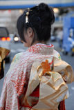 Junge Frau im Kimono Lizenzfreies Stockbild