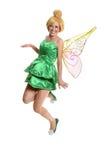 Junge Frau im Kostüm und in den Flügeln Lizenzfreies Stockfoto