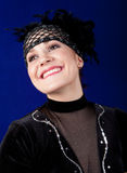 Junge Frau kleidete in einem Kostüm des Tänzers an Lizenzfreie Stockfotografie