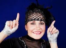 Junge Frau kleidete in einem Kostüm des Tänzers an Stockbilder