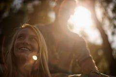 Junge Frau mit einem Blendenfleck Lizenzfreie Stockbilder