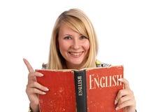 Junge Frau mit einem Buch stockfotos