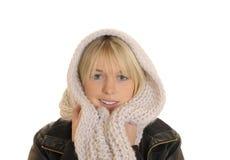 Junge Frau mit einem Schal Lizenzfreies Stockfoto