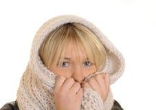 Junge Frau mit einem Schal Stockfotografie