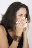 Junge Frau mit einem Taschentuch Stockfotos
