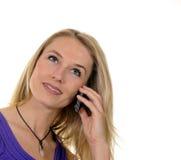 Junge Frau mit handlichem Lizenzfreies Stockbild
