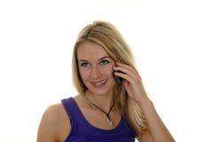 Junge Frau mit handlichem Stockfotos
