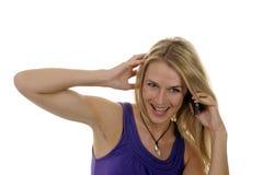 Junge Frau mit handlichem Lizenzfreies Stockfoto
