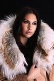 Junge Frau mit Luxuszubehör lizenzfreie stockfotos