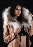 Junge Frau mit Luxuszubehör Lizenzfreies Stockfoto
