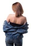 Junge Frau mit nackten Schultern Stockfoto