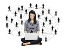 Junge Frau mit Netz Lizenzfreies Stockfoto