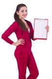 Junge Frau mit Notizblock Lizenzfreie Stockbilder