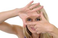 Junge Frau mit Perspektive Lizenzfreie Stockfotos