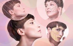 Junge Frau mit sauberer frischer Haut lizenzfreie stockbilder