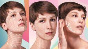 Junge Frau mit sauberer frischer Haut lizenzfreies stockfoto