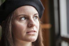 Junge Frau mit schönen blauen Augen Lizenzfreie Stockfotos