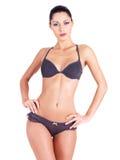 Junge Frau mit schöner dünner perfekter Karosserie Stockfotos