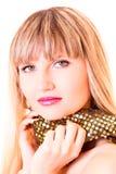 Junge Frau mit Schal Lizenzfreies Stockbild