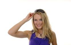 Junge Frau mit Sonnenbrillen Stockbilder