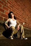 Junge Frau mit Tätowierungen Stockbilder
