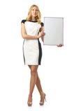 Junge Frau mit Vorstand Lizenzfreies Stockfoto
