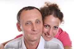 Junge Frau und ihr Großvater Lizenzfreies Stockbild