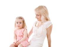 Junge Frau und kleines Mädchen Lizenzfreie Stockfotos