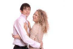 Junge Frau und Mann Stockfotos