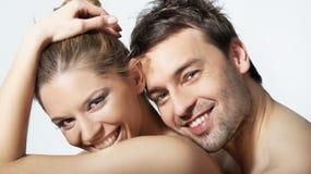 Junge Frau und Mann Lizenzfreies Stockfoto