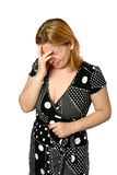 Junge Frau weint Lizenzfreies Stockfoto