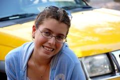 Junge Frauen-Aufstellung Stockfoto