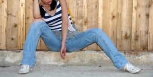 Junge Frauen-Aufstellung Stockbilder