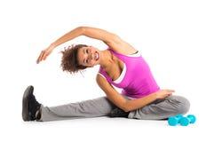 Gesundes Frauen-Trainieren lizenzfreie stockfotografie