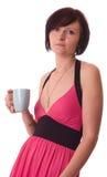 Junge Frauen, die Kaffee trinken stockfoto