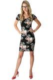 Junge Frauen-Kurzschluss Mini Dress Stockfoto