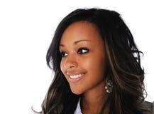 Junge Frauen-Lächeln stockbild