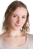 Junge Frauen-Lächeln Stockfoto