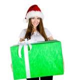 Junge Frauen mit dem Geschenk Stockbilder