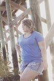 Junge Frauen-Porträt Lizenzfreie Stockfotografie
