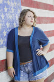 Junge Frauen-Porträt Lizenzfreies Stockfoto