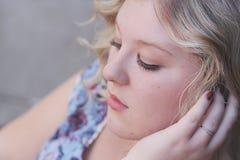 Junge Frauen-Porträt Lizenzfreies Stockbild